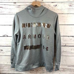 UNDER ARMOR Cold Gear Gray Hoodie Sweatshirt, S